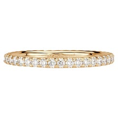 Mark Broumand 0.50ct Round Brilliant Cut Diamond Eternity Band in 18k Champagne
