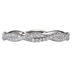 Mark Broumand 0.50ct Round Brilliant Cut Diamond Twist Eternity Band in Platinum
