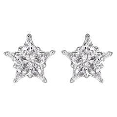 Mark Broumand 0.52 Carat Diamond Star Stud Earrings