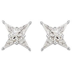 Mark Broumand 0.59 Carat Lily Diamond Stud Earrings