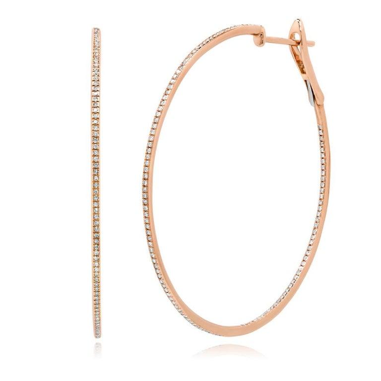 80c54d4c4c6fd Mark Broumand 0.66 Carat Diamond Hoop Earrings in 14 Karat Rose Gold