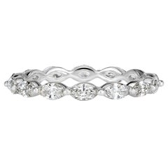 Mark Broumand 1.00 Carat Marquise Cut Diamond Eternity Band in 18 Karat Gold