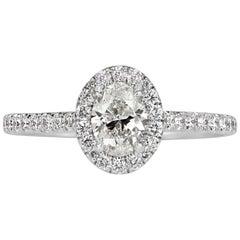 Mark Broumand 1.00 Carat Oval Cut Diamond Engagement Ring