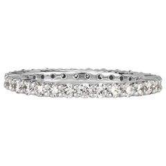 Mark Broumand 1.00ct Round Brilliant Cut Diamond Eternity Band in 18k White Gold