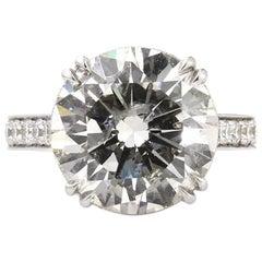 10,46 Karat Runde Brilliant Schliff Diamant Verlobungsring