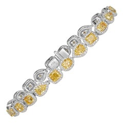 Mark Broumand 11.80 Carat Fancy Yellow Diamond Bracelet