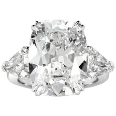 Mark Broumand 12.12 Carat Old Mine Cut Diamond Engagement Ring
