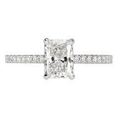 Mark Broumand 1.25 Carat Radiant Cut Diamond Engagement Ring