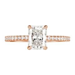 Mark Broumand 1.31 Carat Radiant Cut Diamond Engagement Ring
