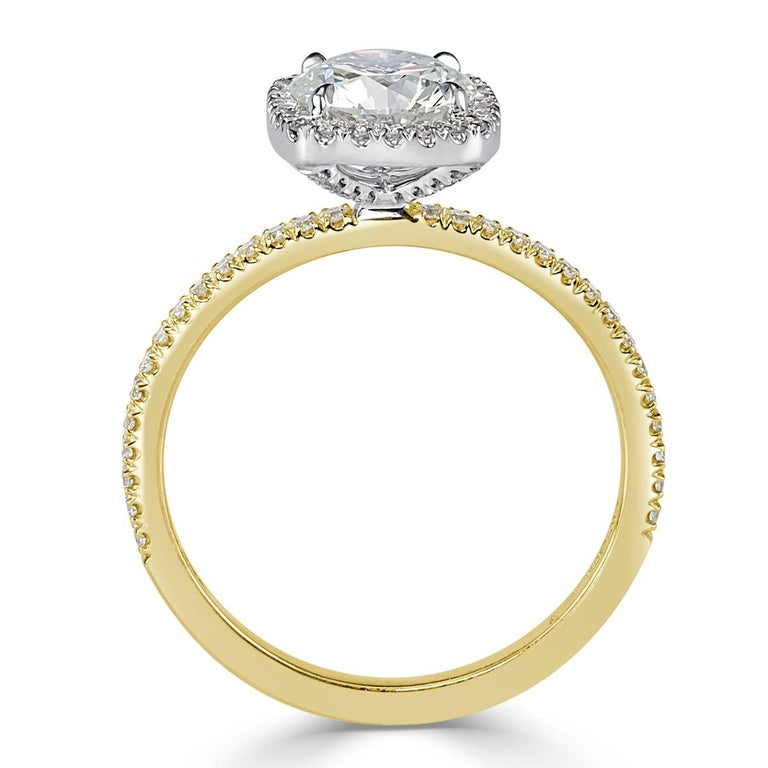 Mark Broumand 1.33 Carat Round Brilliant Cut Diamond Engagement Ring In New Condition For Sale In Los Angeles, CA