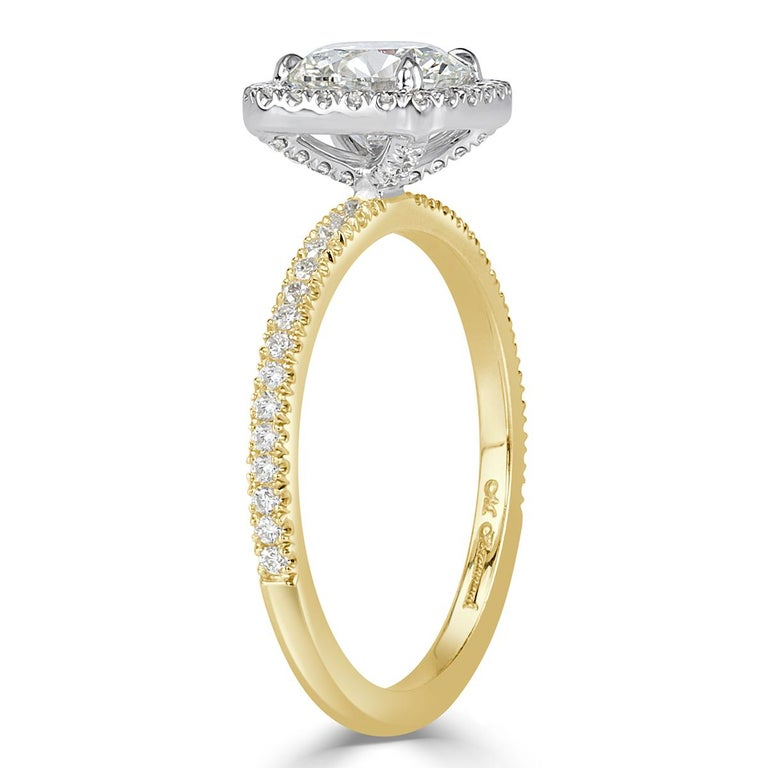 Women's or Men's Mark Broumand 1.33 Carat Round Brilliant Cut Diamond Engagement Ring For Sale
