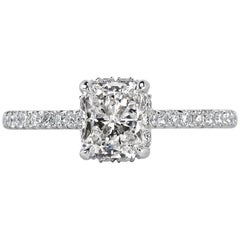 Mark Broumand 1.35 Carat Radiant Cut Diamond Engagement Ring