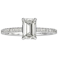 Mark Broumand 1.37 Carat Emerald Cut Diamond Engagement Ring