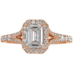 Mark Broumand 1.41 Carat Emerald Cut Diamond Engagement Ring