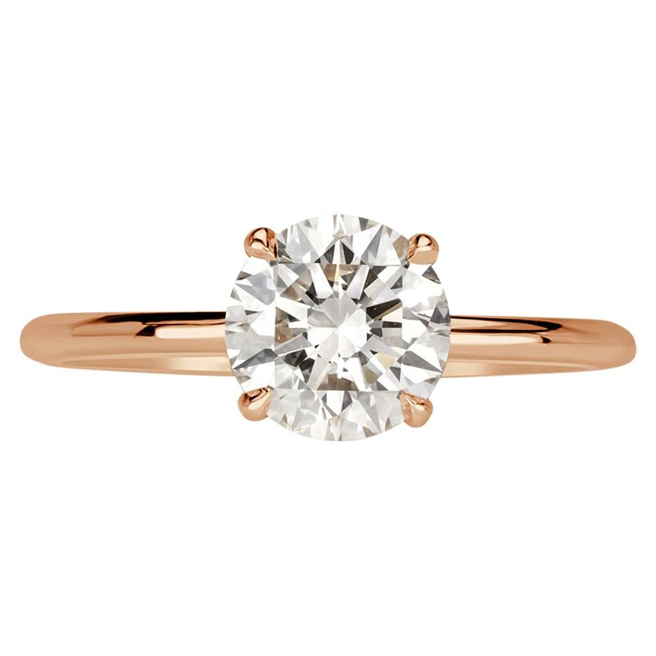 Mark Broumand 1.48 Carat Round Brilliant Cut Diamond Engagement Ring