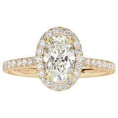 Mark Broumand 1.50 Carat Oval Cut Diamond Engagement Ring