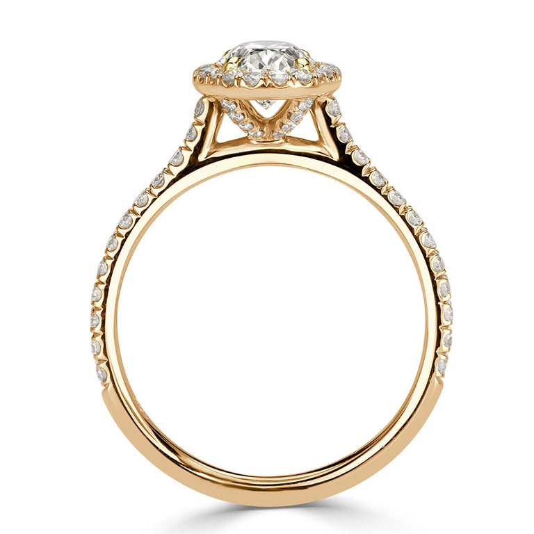 Mark Broumand 1.50 Carat Oval Cut Diamond Engagement Ring In New Condition For Sale In Los Angeles, CA
