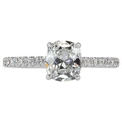 Mark Broumand 1.52 Carat Old Mine Cut Diamond Engagement Ring