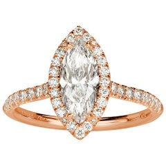 Mark Broumand 1.53 Carat Marquise Cut Diamond Engagement Ring