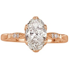 Mark Broumand 1.54 Carat Oval Cut Diamond Engagement Ring