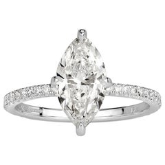 Mark Broumand 1.57 Carat Marquise Cut Diamond Engagement Ring
