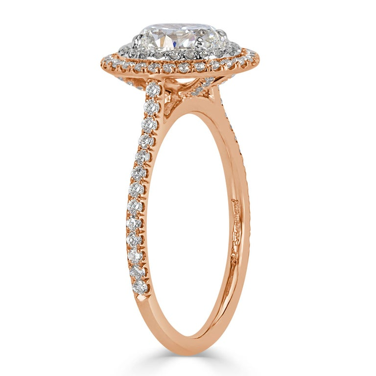 Mark Broumand 1.57 Carat Oval Cut Diamond Engagement Ring In New Condition For Sale In Los Angeles, CA