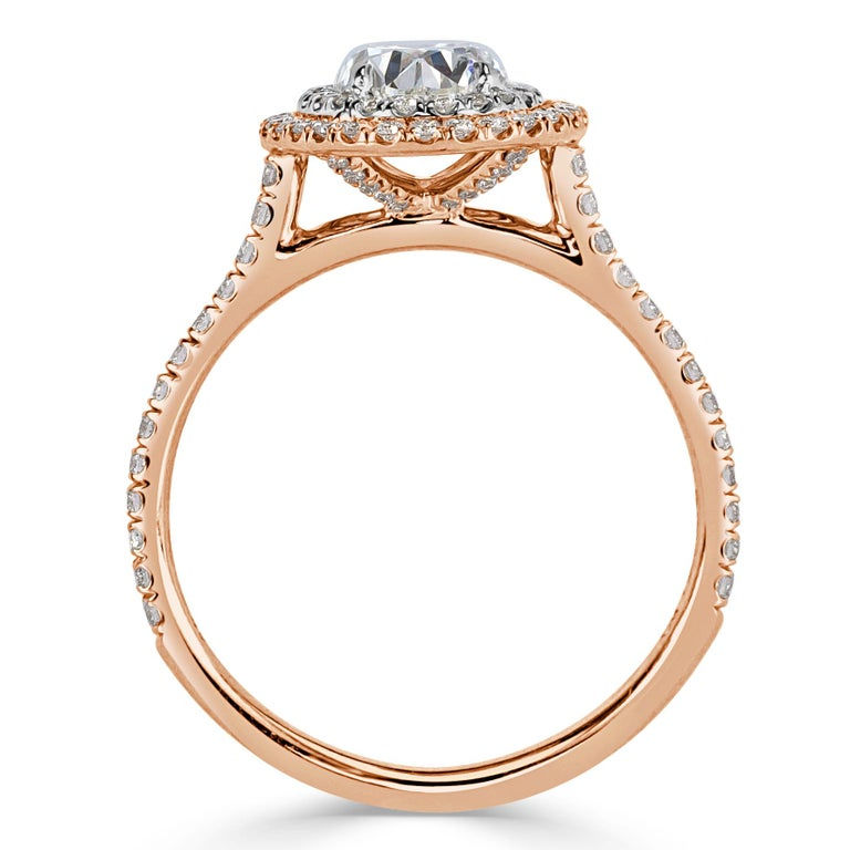 Women's or Men's Mark Broumand 1.57 Carat Oval Cut Diamond Engagement Ring For Sale