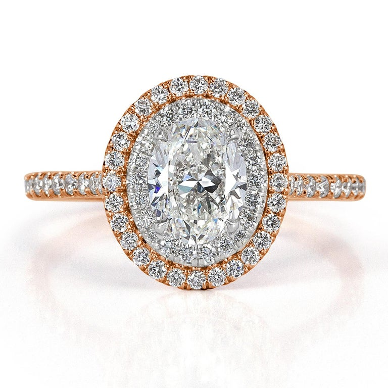 Mark Broumand 1.57 Carat Oval Cut Diamond Engagement Ring For Sale 1