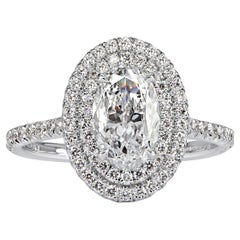 Mark Broumand 1.59 Carat Oval Cut Diamond Engagement Ring
