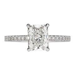 Mark Broumand 1.62 Carat Radiant Cut Diamond Engagement Ring