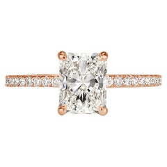 Mark Broumand 1.62 Carat Radiant Cut Diamond Engagement Ring