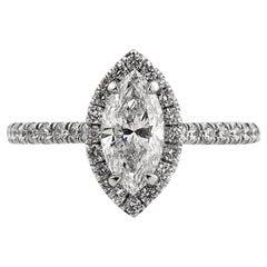 Mark Broumand 1.67 Carat Marquise Cut Diamond Engagement Ring