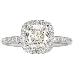 Mark Broumand 1.67 Carat Old Mine Cut Diamond Engagement Ring