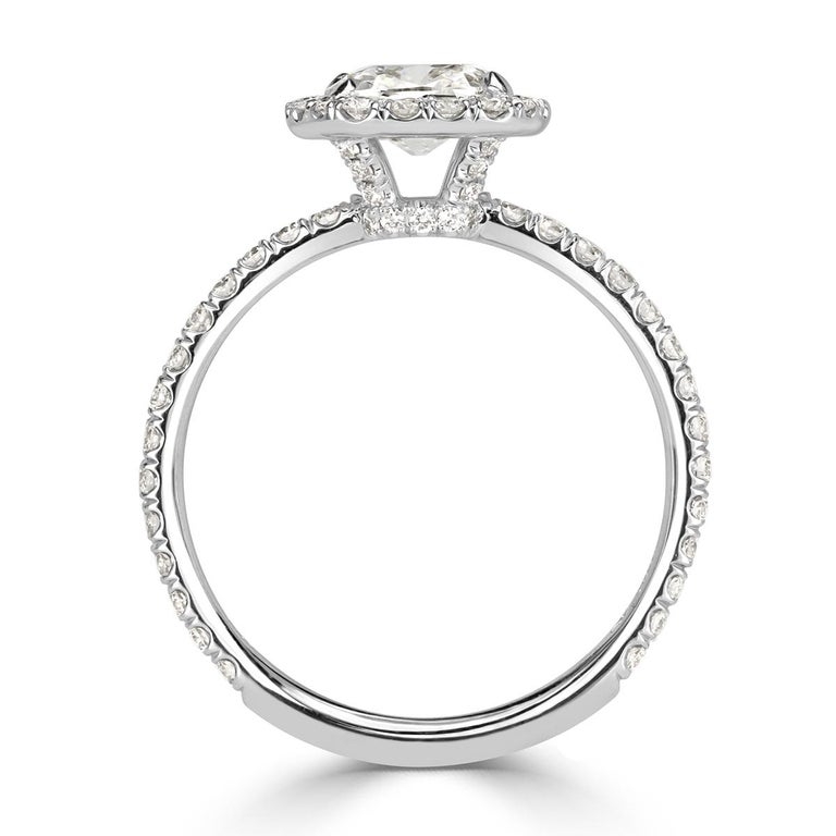 Mark Broumand 1.67 Carat Old Mine Cut Diamond Engagement Ring In New Condition For Sale In Los Angeles, CA