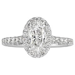 Mark Broumand 1.68 Carat Oval Cut Diamond Engagement Ring