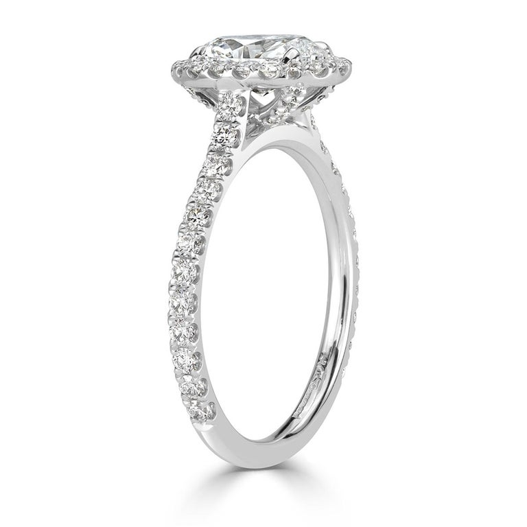 Mark Broumand 1.68 Carat Oval Cut Diamond Engagement Ring In New Condition For Sale In Los Angeles, CA