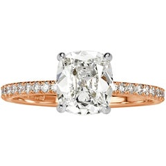 Mark Broumand 1.69 Carat Old Mine Cut Diamond Engagement Ring