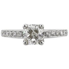 Mark Broumand 1.71 Carat Cushion Cut Diamond Engagement Ring