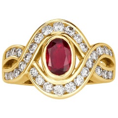 Mark Broumand 1.72 Carat Ruby and Diamond Vintage Ring