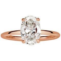 Mark Broumand 1.77 Carat Oval Cut Diamond Engagement Ring