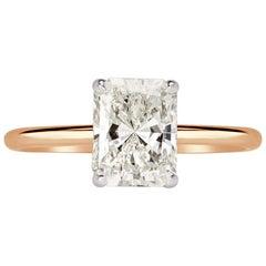 Mark Broumand 1.78 Carat Radiant Cut Diamond Engagement Ring
