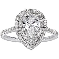 Mark Broumand 1.80 Carat Pear Shaped Diamond Engagement Ring