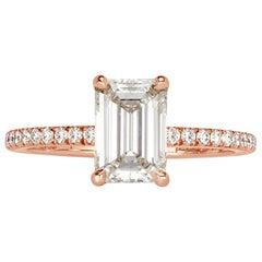 Mark Broumand 1.84 Carat Emerald Cut Diamond Engagement Ring