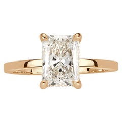 Mark Broumand 1.89 Carat Radiant Cut Diamond Engagement Ring