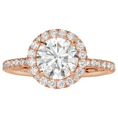 Mark Broumand 1.89 Carat Round Brilliant Cut Diamond Engagement Ring