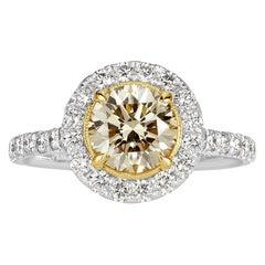 Mark Broumand 1.92 Carat Fancy Light Yellow Round Brilliant Cut Diamond