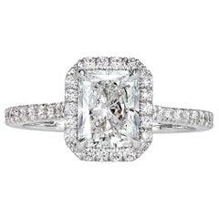 Mark Broumand 1.93 Carat Radiant Cut Diamond Engagement Ring