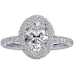 Mark Broumand 1.94 Carat Oval Cut Diamond Engagement Ring
