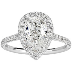 Mark Broumand 1.99 Carat Pear Shaped Diamond Engagement Ring
