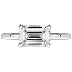 Mark Broumand 2.00 Carat Emerald Cut Diamond Engagement Ring